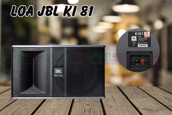 Loa karaoke JBL KI 81 thiết kế tinh tế