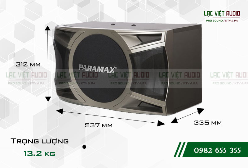 Loa Paramax D1000 thiết kế