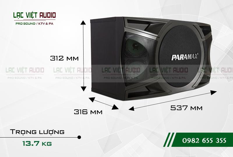 Loa Paramax P1000 NEW kích thước