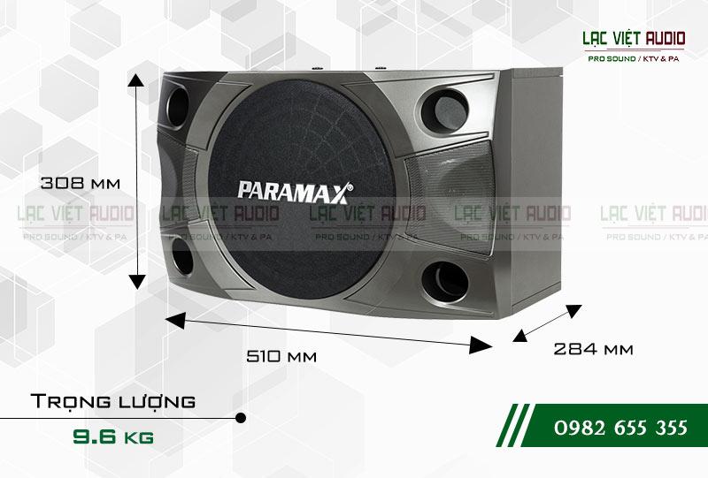Khả năng hoạt động bền bỉ của Loa Paramax P850 NEW kích thước
