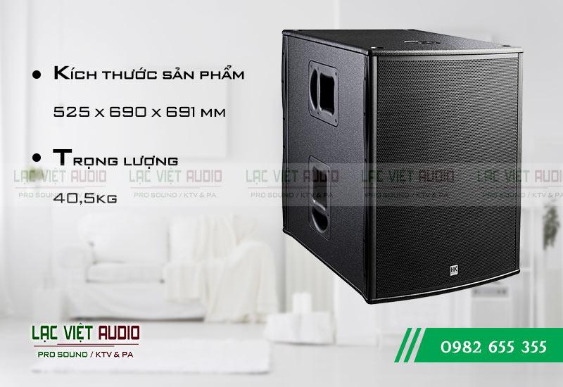 Loa Sub HK PL 118A kích thước