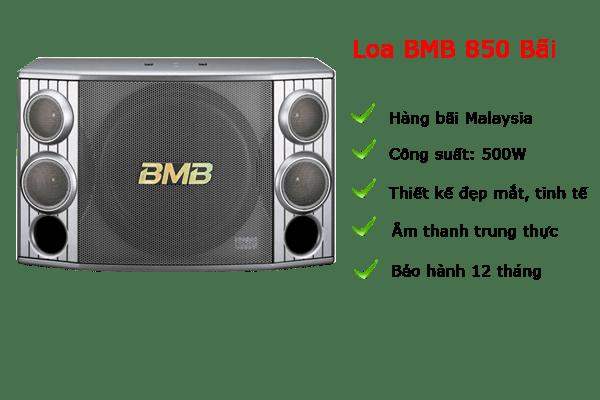 Loa karaoke BMB 850 bãi Malaysia hàng chất lượng.