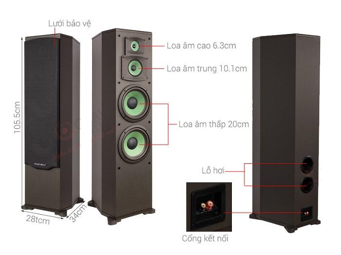 Loa paramax f1000 chất lượng cao. Thiết kế tổng quan