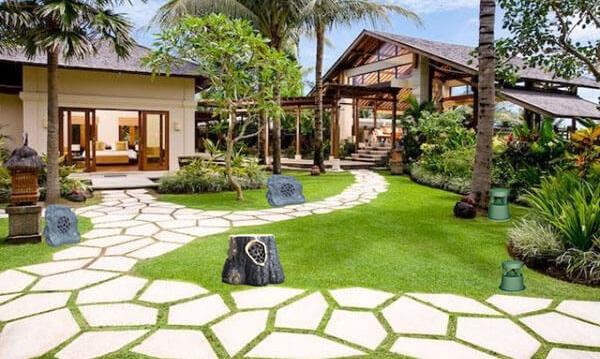 Loa sân vườn được Lạc Việt Audio lắp đặt cho khách hàng