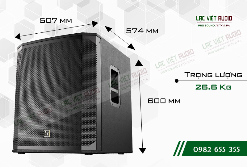 EV ELX200 18S kích thước