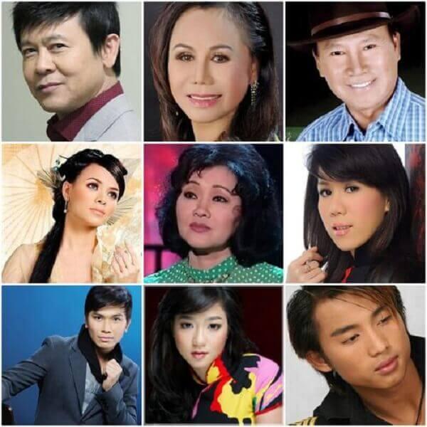 Một số nghệ sĩ nổi tiếng trong giới nhạc Vàng