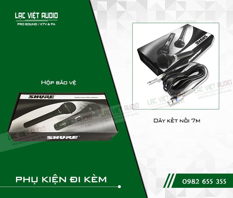 Micro có dây SHURE 959 bộ sản phẩm