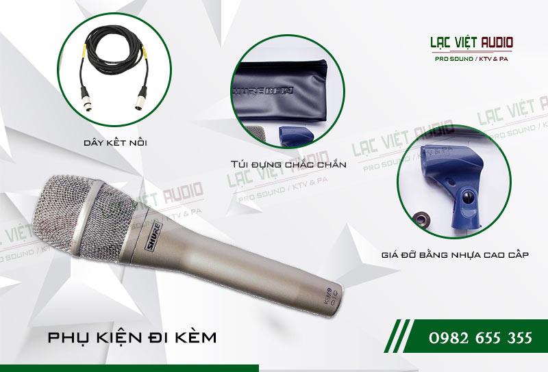 Micro SHURE KSM9 phụ kiện đi kèm