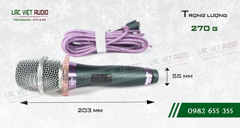 Micro có dây SHURE SR999 kích thước