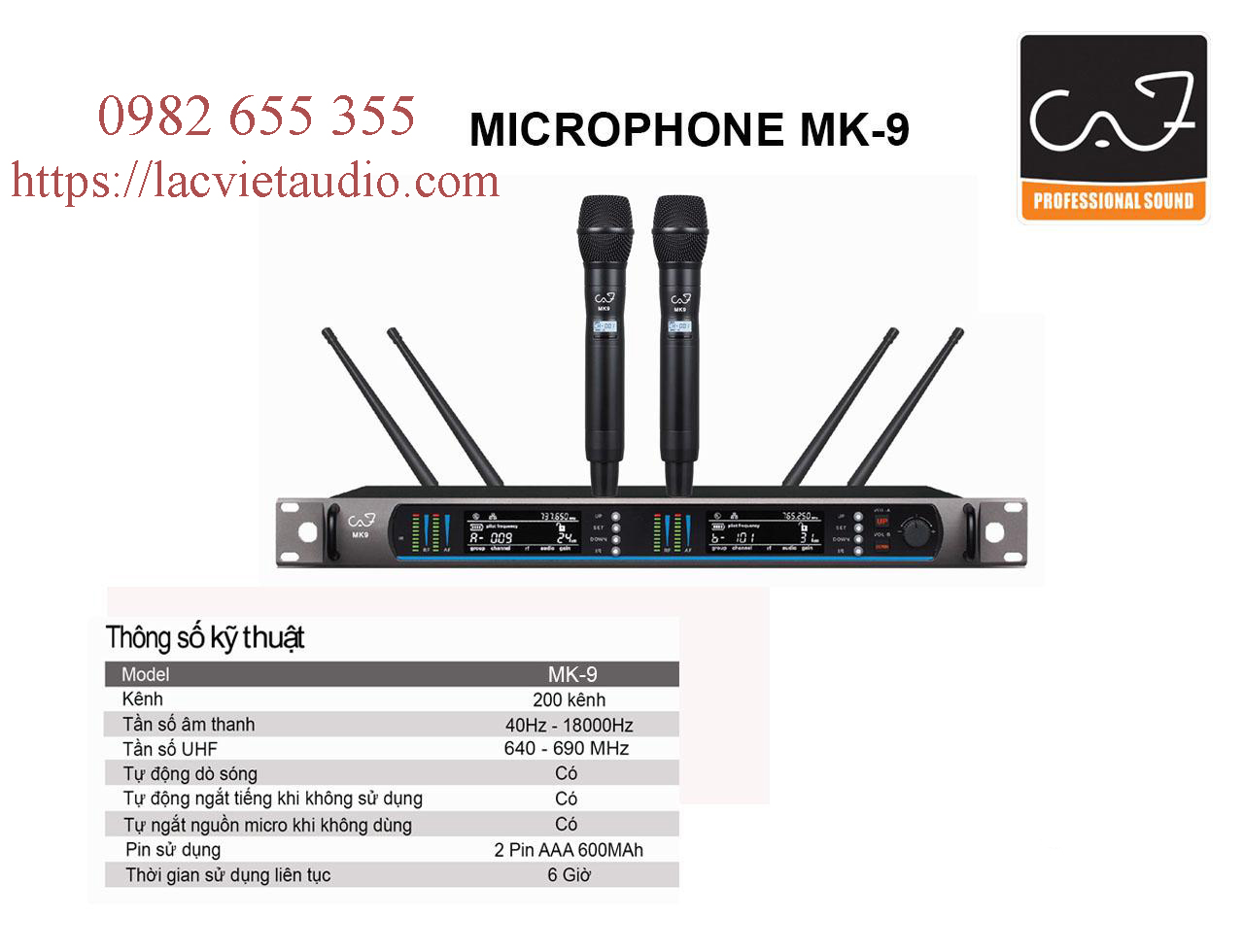 Micro không dây CAF MK 9