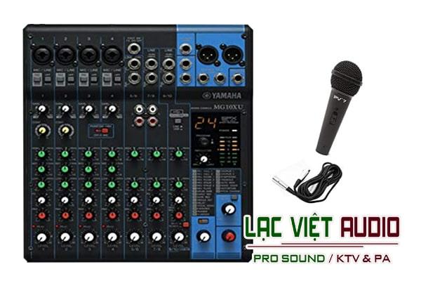 Mixer Yamaha MG 10XU Lạc Việt audio thiết kế đẹp mắt