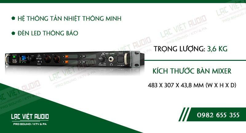 Thiết kế bên ngoài của sản phẩm Mixer Behringer X32 Core