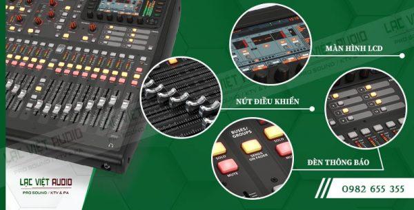 Thiết kế bên ngoài của sản phẩm Mixer Behringer X32 Producer