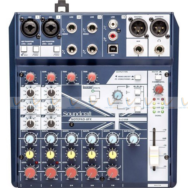 Mixer Soundcraft Notepad 8FX