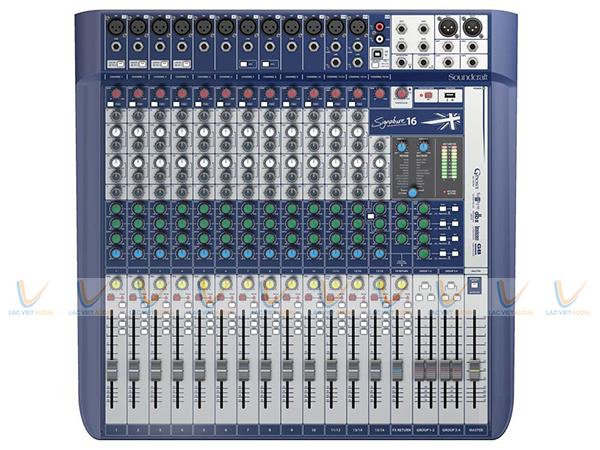 Mixer Soundcraft Signature 16 có thiết kế đơn giản hiện đại