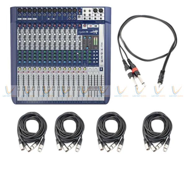Trọn bộ điều khiển của Mixer Soundcraft Signature 16