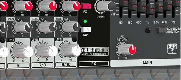 PMP580S sử dụng bộ xử lý FX Klark Teknik hiện đại