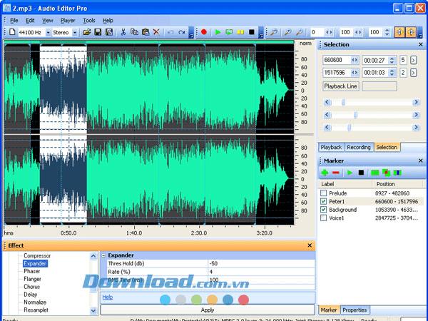 Phần mềm chỉnh sửa nhạc Akram Audio Editor