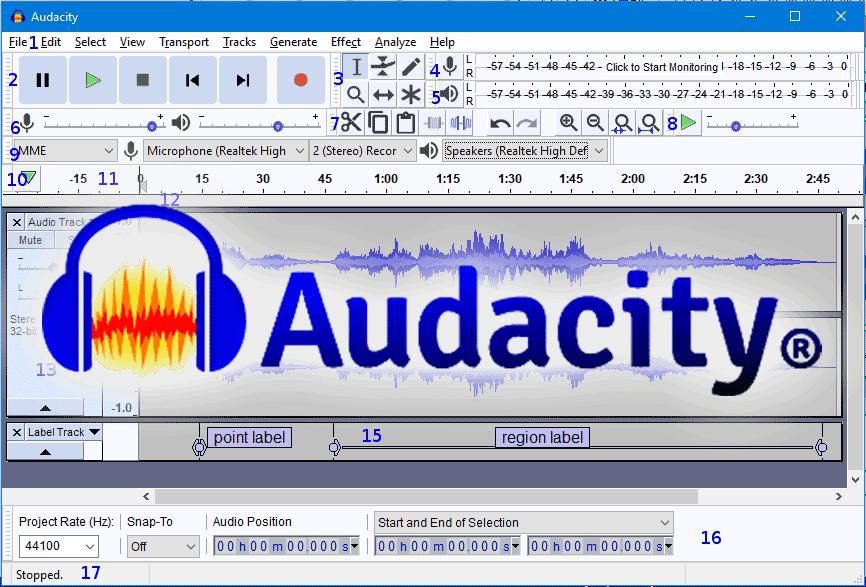 Phần mềm chỉnh sửa nhạc Audacity