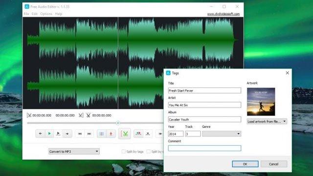 Phần mềm chỉnh sửa nhạc DVD video Soft Free Audio Editor