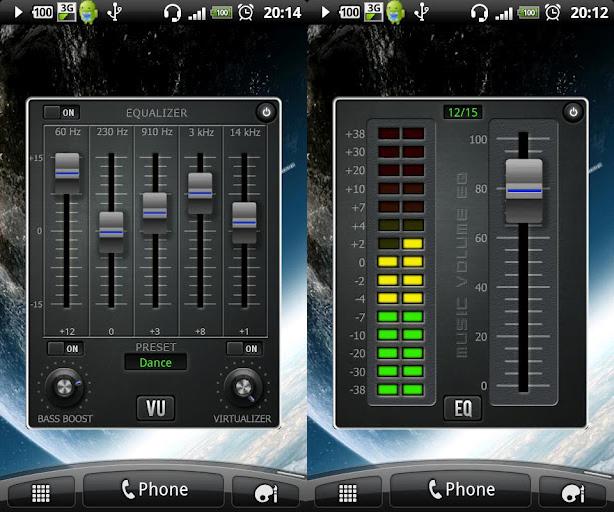 Phần mềm tăng âm lượng trên andoid Music Equalizer