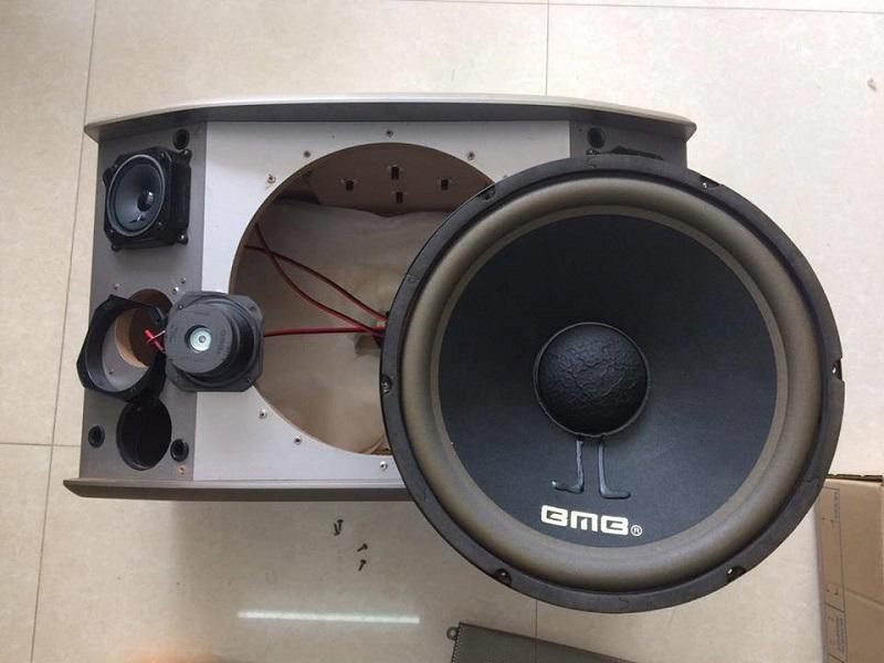 Phần vỏ thùng và bass loa bmb 850