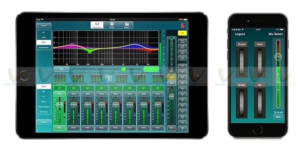 Hai ứng dụng dành cho kỹ sư và người chơi nhạc của Allen and Heath SQ7
