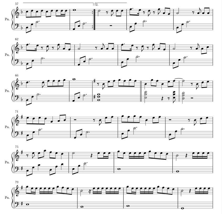 Sheet Piano lời bài hát sóng gió Jack ft K-KICM