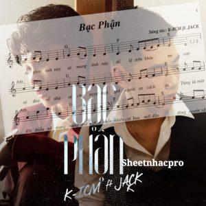 Sheet Piano, organ, guitar lời bài hát Bạc Phận