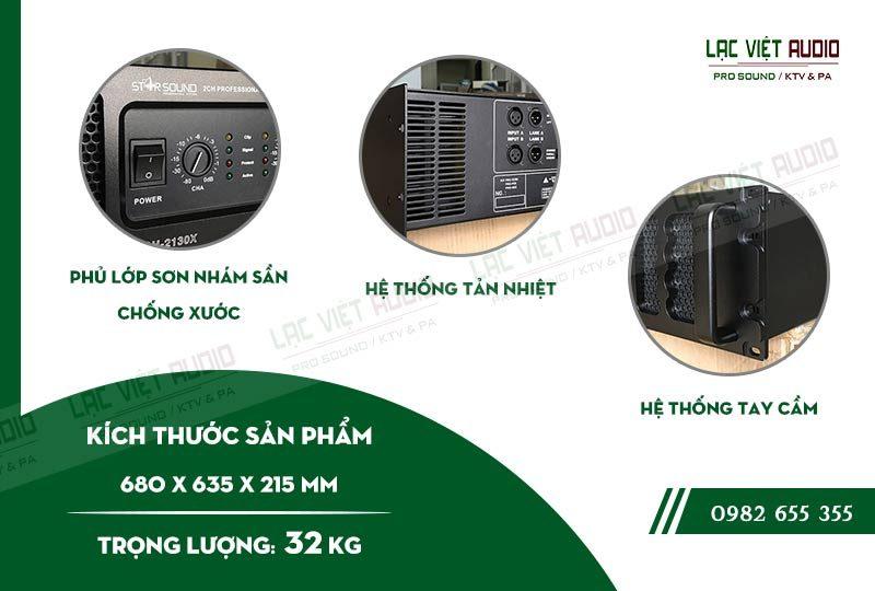 Thiết kế bên ngoài của sản phẩm Cục đẩy công suất Star Sound CH 2130X