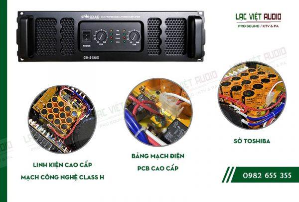 Các tính năng độc đáo của sản phẩm Cục đẩy công suất Star Sound CH 2130X này