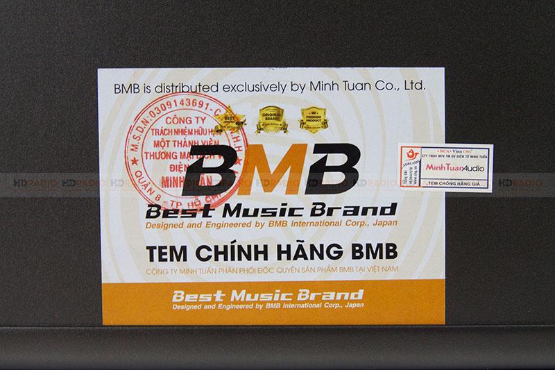 Tem vàng bảo hành của BMB xịn nhập khẩu Minh Tuấn