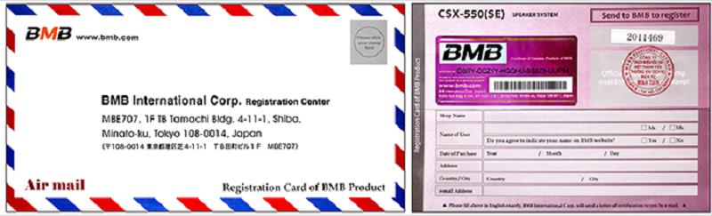 Thư chứng nhận hàng chính hãng BMB xịn của Minh Tuấn
