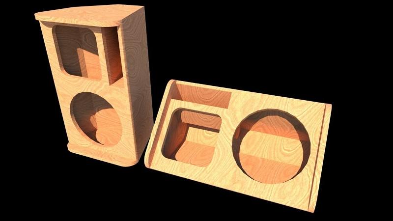 Vỏ thùng loa Nexo 10 được làm từ gỗ thông nên độ bền cực cao