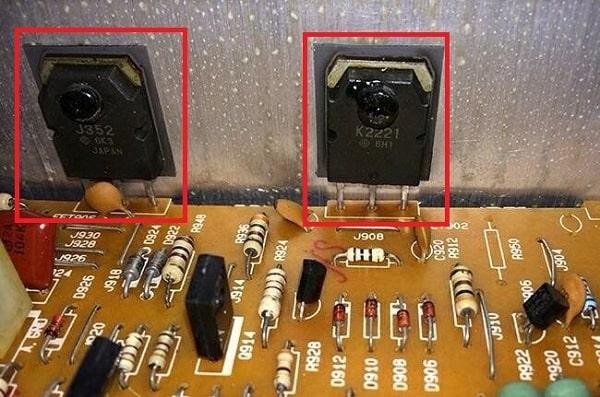 Transistor sử dụng trong mạch khuếch đại amply