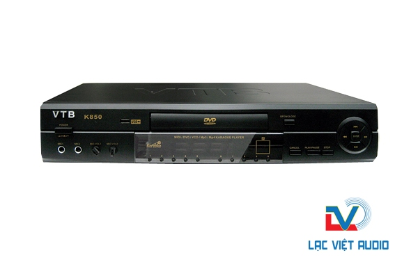 Đầu karaoke VTB K850 chất lượng vượt trội.