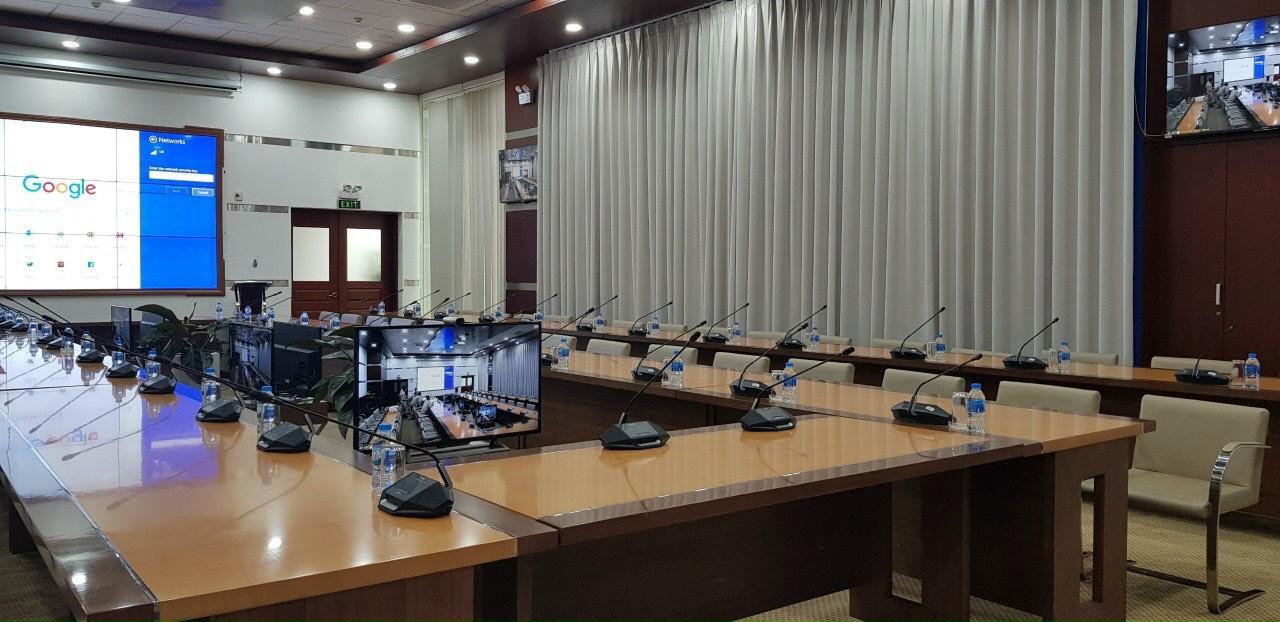 Âm thanh hội nghị trực tuyến UBND Quận 1