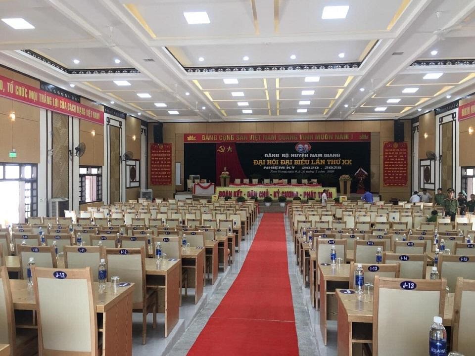 Hệ thống âm thanh sân khấu hội trường hội họp biểu diễn Đảng Bộ Nam Giang - Quảng Nam