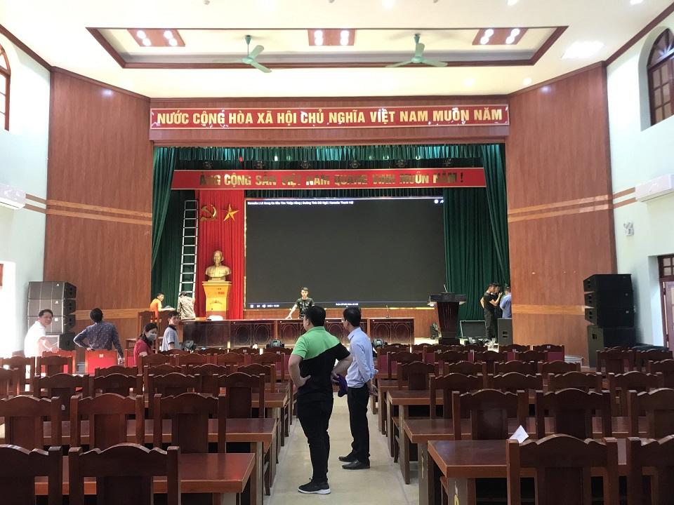 Dự án âm thanh cho hội trường ủy ban nhân dân huyện Bình Gia - Lạng Sơn