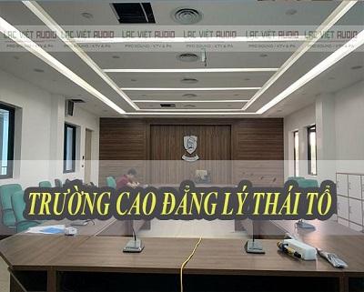 Dự án hệ thống âm thanh phòng họp cho trường CD Lý Thái Tổ