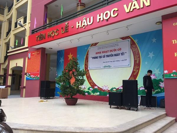 Dự án cung cấp âm thanh hội trường ngoài trời trường học: THCS Hà Huy Tập