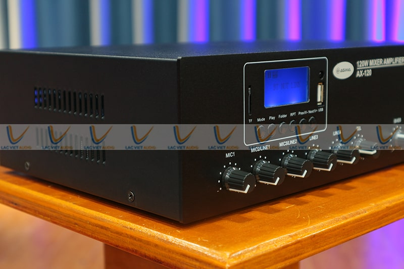 Amply ASIMA AX-120R trang bị hệ thống linh kiện chất lượng cao