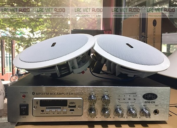 Amply cho loa âm trần được sử dụng phổ biến trong các hệ thống âm thanh thông báo