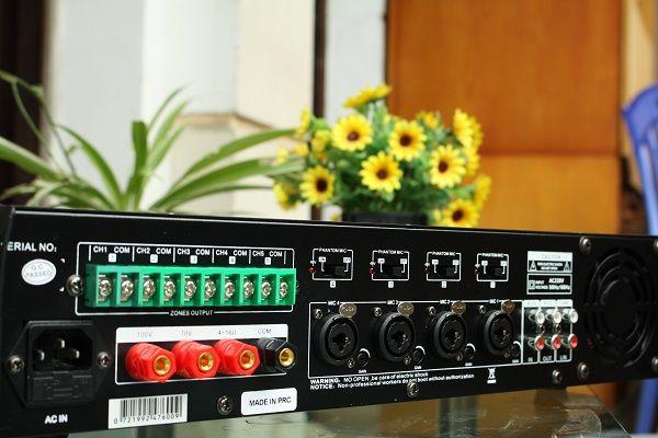 Mặt sau sản phẩm amply DB LP-200T