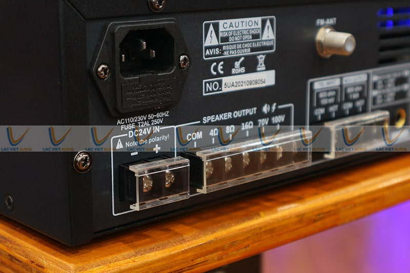 Amply hội thảo ASIMA AX120R có dải tần số rộng
