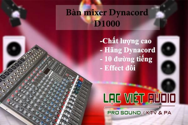 Đặc điểm của bàn mixer Dynacord D 1000