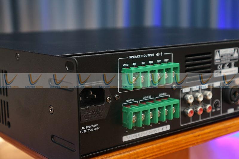 Asima AX-240-R3 hỗ trợ chia 3 vùng âm thanh