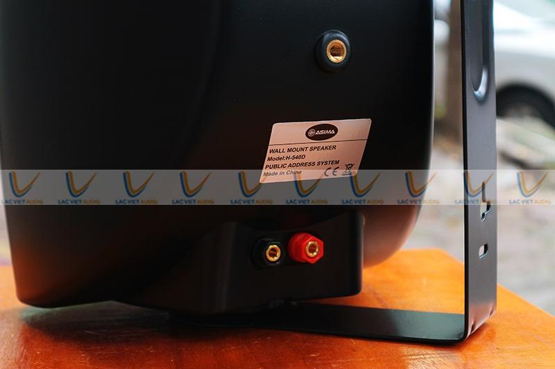 Loa treo tường ASIMA HX540W có thiết kế lỗ cắm dây loa