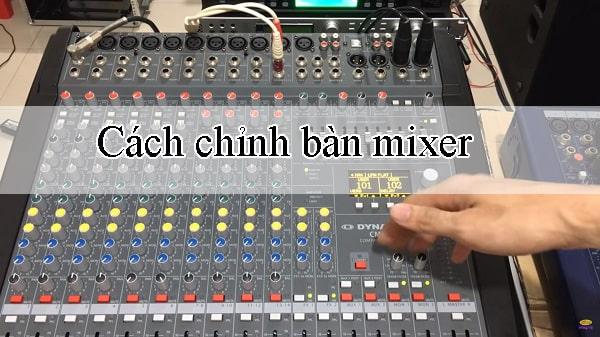 Bàn mixer âm thanh chuyên nghiệp