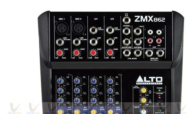 Mỗi chức năng của Alto ZMX862 đều có dải màu sắc rực rỡ